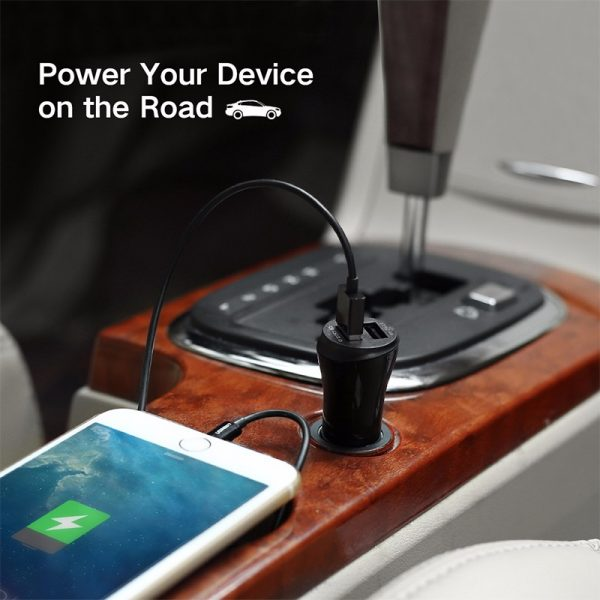 30W Quick Charge 2.0 Dual Port USB Car Charger