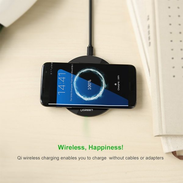 Qi Wireless Fast Charger Black