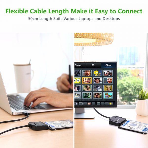 UGREEN USB 2.0 to SATA Hard Drive converter cable