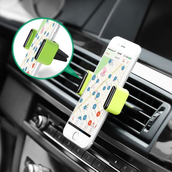 Air Vent Mount Phone Holder Black-green