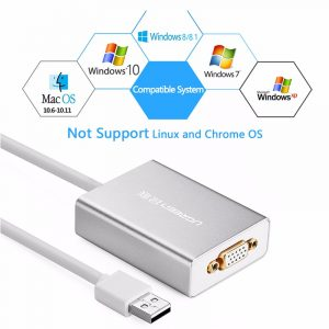 new USB 2.0 to VGA converter Silver 80CM