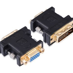 DVI (24+5) male to VGA female converter