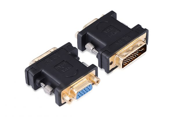 DVI (24+5) male to VGA female converter
