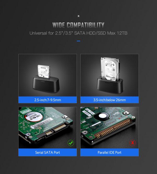 UGREEN USB 3 hard disk docking black