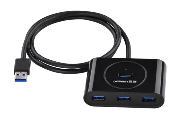 NEW USB 3.0 4 Ports Hub Black 50CM