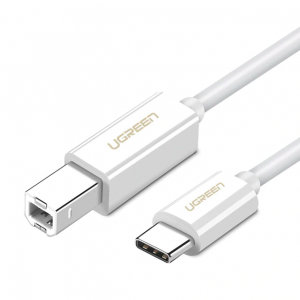 USB Type C to USB-B Cable White White 1.5M