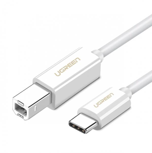 USB Type C to USB-B Cable White White 1.5M