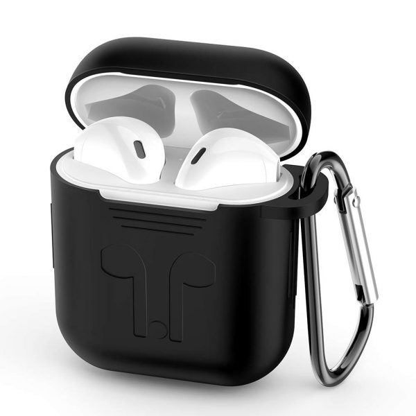 UGREEN Silicone AirPods Case Cover with Climbing Buckle (Black)