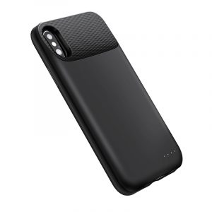 iPhone X Battery Case Black with wireless charging
