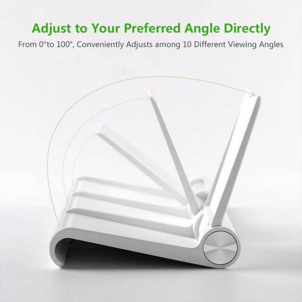 Adjustable Portable Stand Multi-Angle White