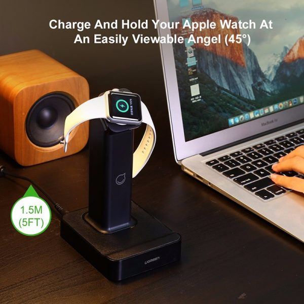 UGREEN Magnetic Charging Dock Black for Apple Watch