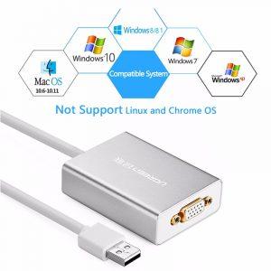 new USB 2.0 to VGA converter Silver 80CM