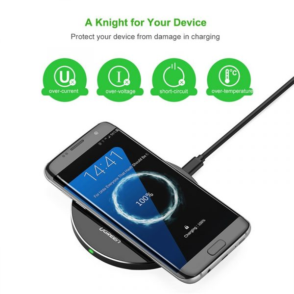 UGREEN Qi Wireless Fast Charger-Black