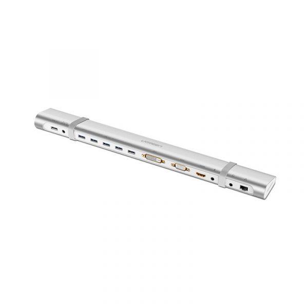 UGREEN USB 3.0 to 5-Port USB 3.0 Hub + HDMI/DVI/VGA + Ethernet Adapter + SD/TF Card Reader UK