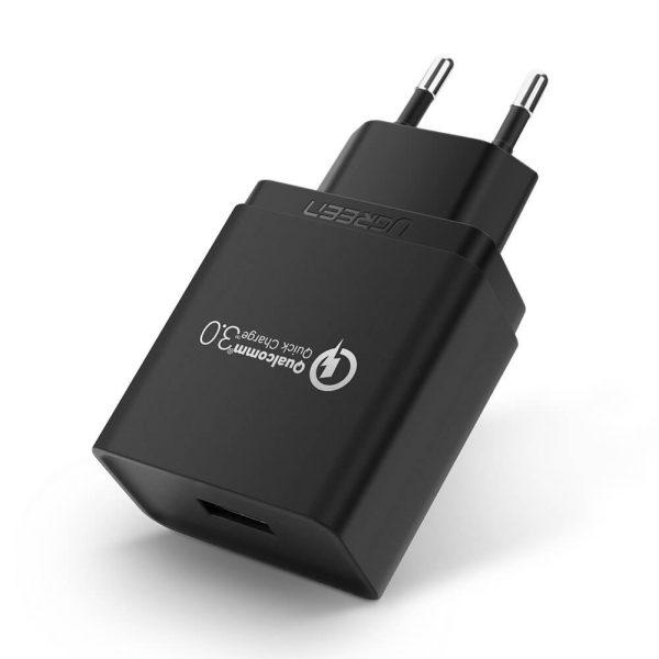 UGREEN Quick Charge 2.0/3.0 USB Charger EU Black