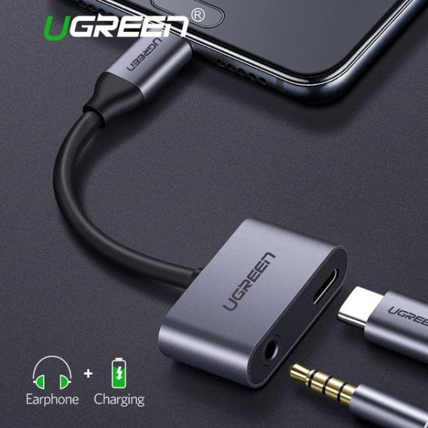 Ugreen Type C to 3.5mm Audio  Type C Female Adapter Aluminum case