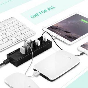 7 Port USB 3.0 HUB (5V Power Supply) CH Black