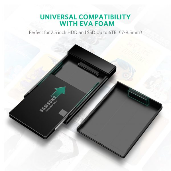 2.5 inch Hard Disk box Black