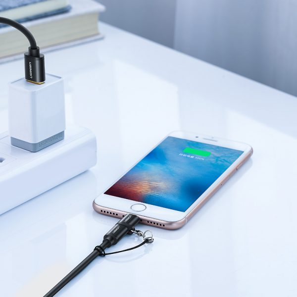 UGREEN Micro USB Female to Lightning Male Adapter (Black)