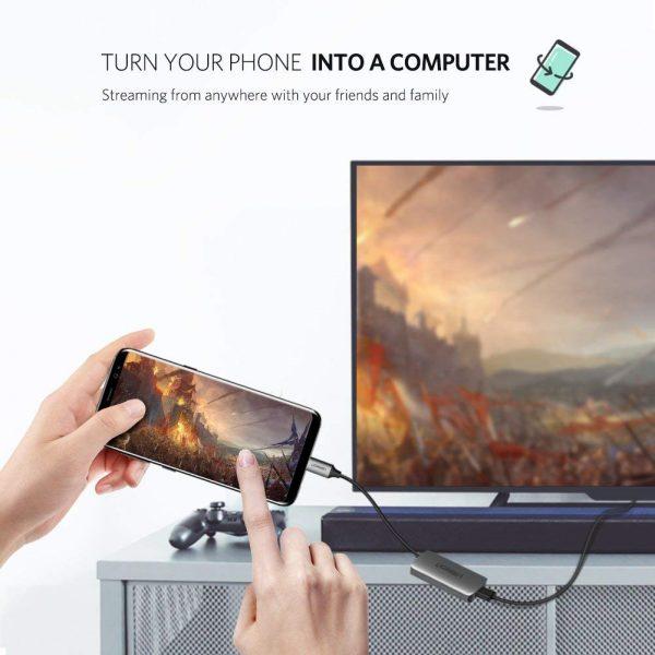 Type C to HDMI ConverterWhit PD