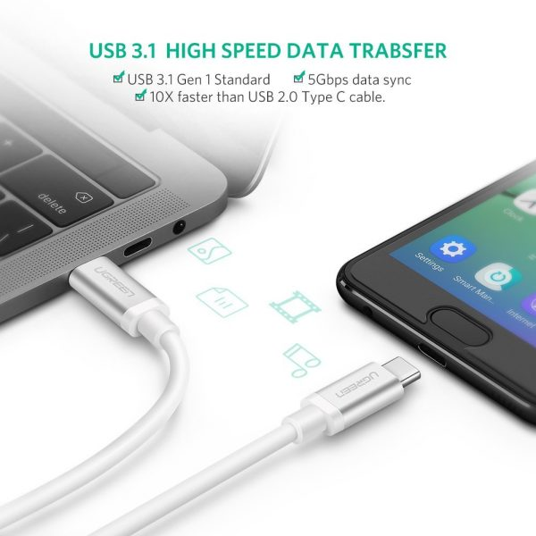USB 3.1 Type-C Male to Male Charge & Sync cable 3A 1m