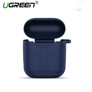 UGREEN Silicone AirPods Case Cover with Climbing Buckle - Dark Blue