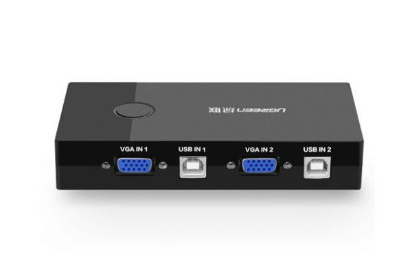 KVM Switch with 2 Ports USB