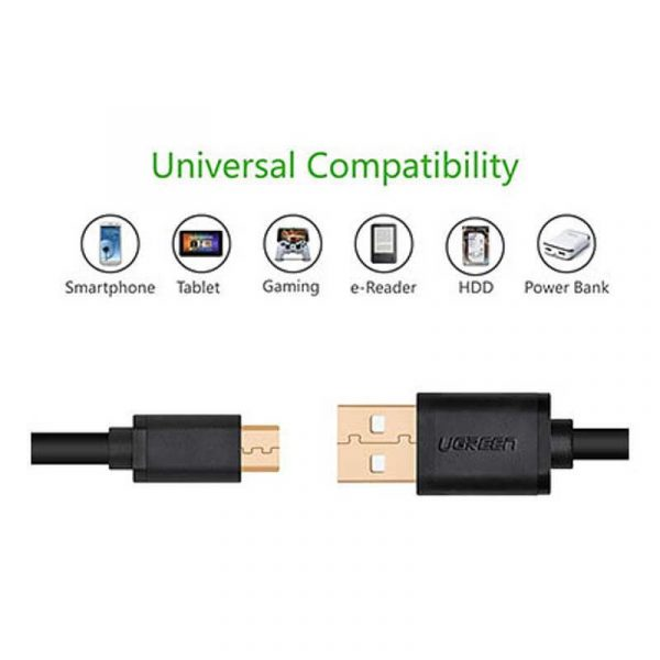 UGREEN Micro USB Male to USB male cable-2M