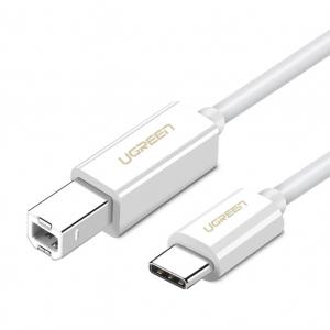 Ugreen USB Type C to USB-B Cable White White 1.5M