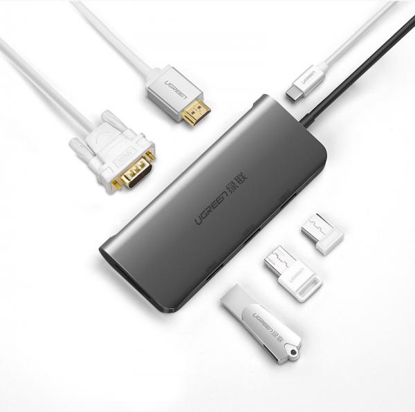 USB-C Multifuntional Adapter Gray