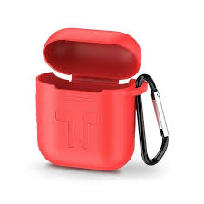 UGREEN Silicone AirPods Case Cover with Climbing Buckle - Red