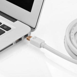 mini dp male to hdmi cable White / 1.5M