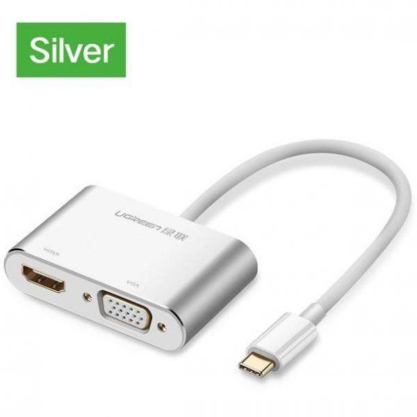 UGREEN USB-C to HDMI+VGA Converter Aluminum case