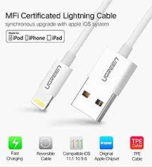 Ugreen MFi Lightning to USB Charging Data Cable (1M, White)