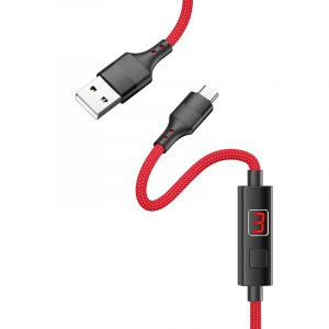 S13 Central Control Timing Charging Data Cable Micro Red