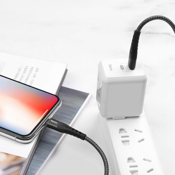 U64 Superior PD Charging Cable for Lightning Black