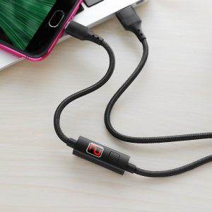 S13 Central Control Timing Charging Data Cable Micro Black