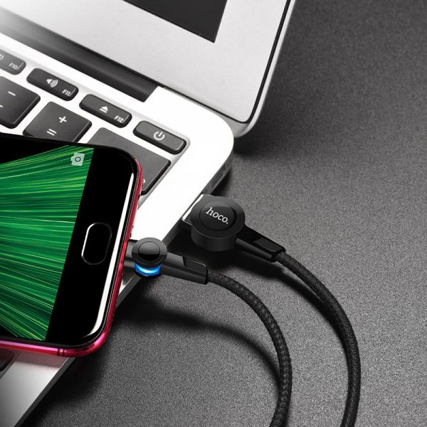 S8 Magnetic Charging Cable Micro Black
