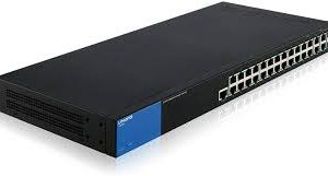 Linksys 24-Port Rackmount Gigabit Ethernet Unmanaged Network Switch-LGS124
