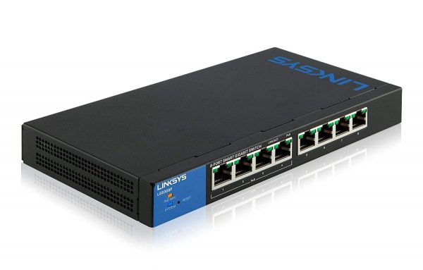 Linksys 8-Port Desktop Gigabit PoE+ Unmanaged Switch-LGS108P