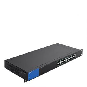 Linksys LGS124P 24-Port Rackmount Gigabit Ethernet PoE+Unmanaged Switch