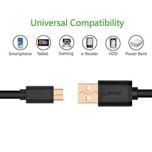 UGREEN Micro-USB male to USB male cable gold-plated -0.5M