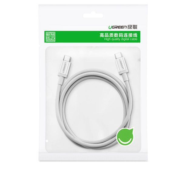 UGREEN Type C Male to Type C Male 2.0 Data Cable White 1M