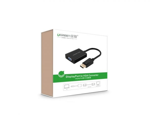UGREEN DP Male to VGA Female Converter Cable (Black)
