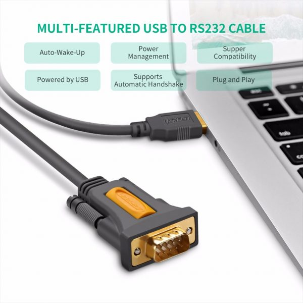 UGREEN DB9 RS-232 adapter cable 1.5M