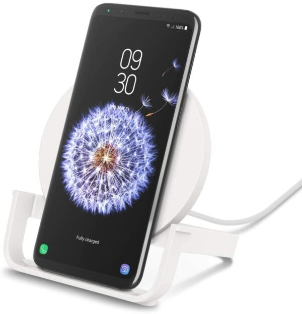 Belkin F7U108btWHT Boost Up Bold Wireless Charging Stand with 1.2m Micro-USB Cable, 10W, White